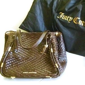 "JUICY COUTURE ""Piper"" Hand Woven Leather Tote-NWOT"